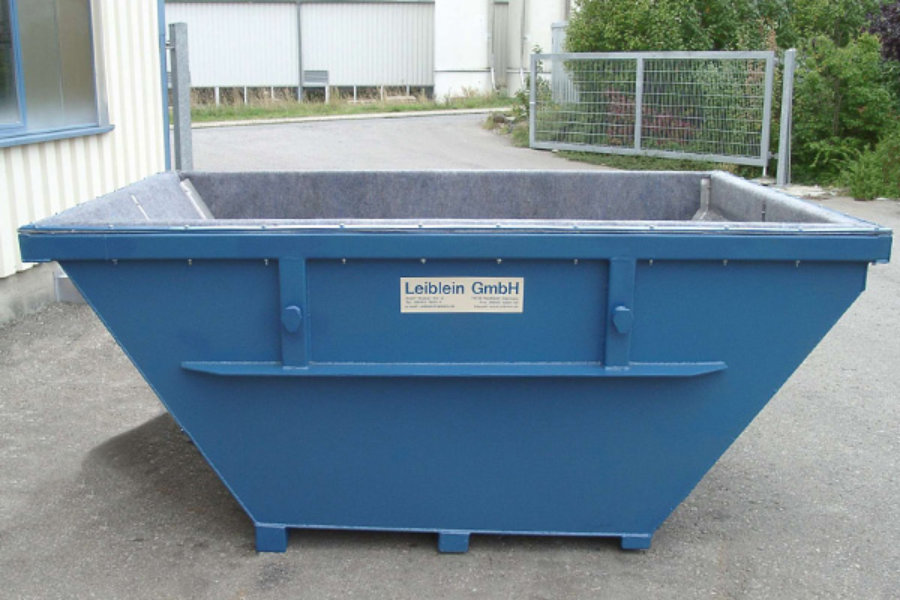 Dewatering container of Leiblein
